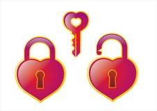 heart and lock Royalty Free Stock Photos