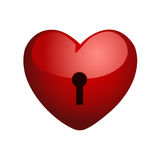 Heart on a lock Stock Photo