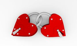 Heart lock Royalty Free Stock Images