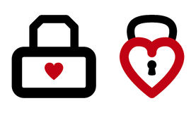 Heart lock Royalty Free Stock Image