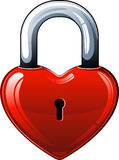 Heart lock. Over white. EPS 8 Stock Photography