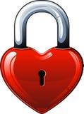 Heart lock Stock Photography