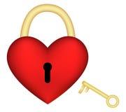 Heart-lock Stock Photo