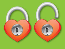 Heart with lock Royalty Free Stock Photos