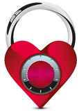 Heart lock  Stock Image