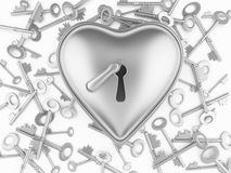 Heart on the lock Royalty Free Stock Image
