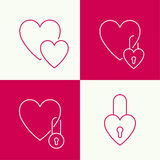 Heart with a lock Stock Photography