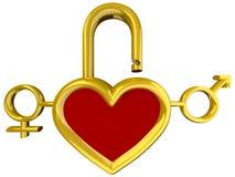 Heart lock Stock Photos