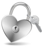 Heart Lock and Key Royalty Free Stock Photos