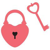Heart lock and key Royalty Free Stock Images