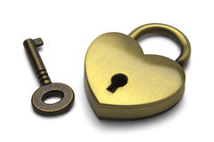 Heart Lock and Key Stock Photos