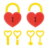 Heart lock with key. Stock Images