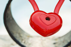 Heart, lock without a key, Royalty Free Stock Images