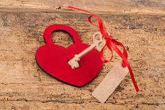 Heart lock and key Stock Images