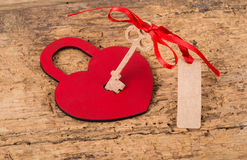 Heart lock and key Stock Photography