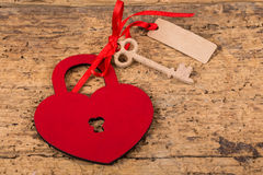 Heart lock and key Royalty Free Stock Photo