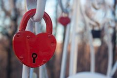 Heart lock royalty free stock image