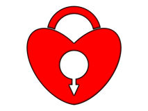 Heart - lock Stock Image