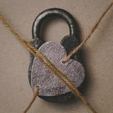 Heart on the lock, symbolic photo. My heart is closed. Symbolic image - my heart is busy loved one. Valentine`s day royalty free stock images