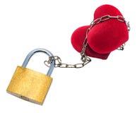 Heart on the lock Stock Photo