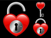 Heart locket and key Royalty Free Stock Images