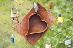 Heart locks Stock Images