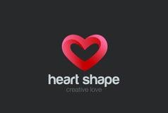 Heart Logo design vector. Valentine day love. Heart Logo design vector template. St. Valentine day of love symbol Royalty Free Stock Image