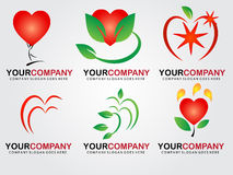 Heart logo design Royalty Free Stock Photography