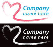 Heart Logo. A heart logo icon in colour and black and white Royalty Free Stock Image