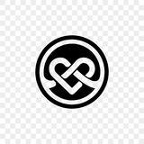 Heart logo vector infinity loop icon. Isolated modern heart symbol for cardiology medical center or charity, Valentine love or wedding greeting card fashion Royalty Free Stock Photo