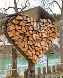 Heart of logs with metal roof. In Bavaria, Germany Stock Image