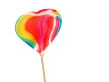 Heart lollipop Royalty Free Stock Image