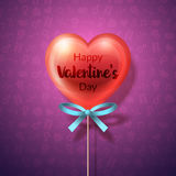 Heart Lollipop with bow Royalty Free Stock Photos