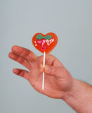 Heart lollipop Royalty Free Stock Photos