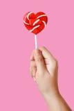 Heart lollipop Stock Photography