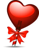 Heart lollipop. Red heart lollipop over white background. EPS 10 Royalty Free Stock Photo
