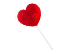 Heart lollipop of Valentines day isolated Stock Photo