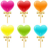 Heart Lollipops Royalty Free Stock Image