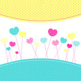 Heart Lollipops Frienship Greeting Card Royalty Free Stock Image