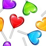 Heart Lollipops Pattern Royalty Free Stock Image