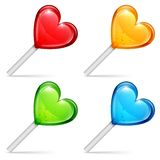 Heart lollipops Royalty Free Stock Images