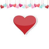 Heart of love. Red heart on a white background Royalty Free Stock Image