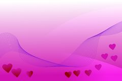 Heart & love. Romantic pink background with hearts at the bottom Royalty Free Stock Photography