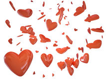Heart love 3d cg. For valentine's day greeting card or gift illustartion Stock Photo