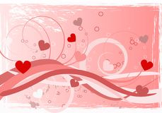 Heart love abstraction Stock Photography