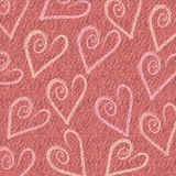 Heart Love Background. A fun funky romantic heart background to show love Stock Images