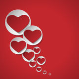 Heart of love background. Red heart on a red background Royalty Free Stock Photo