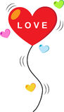 Heart love balloon Royalty Free Stock Images