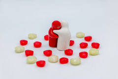 Heart love candy valentine day Royalty Free Stock Images