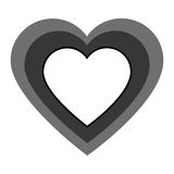 heart love card icon Stock Photography
